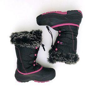 KAMIK Women's Blk/Pink Snow Winter Fur Boots 5
